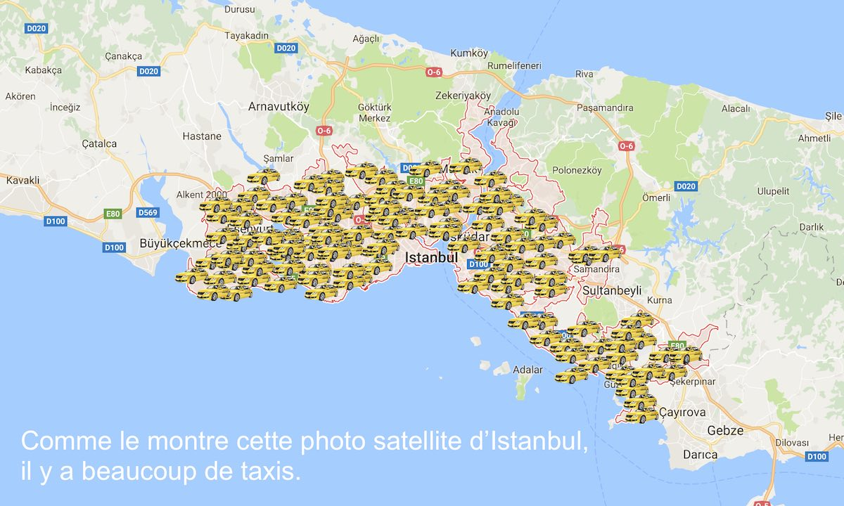 Les taxis à Istanbul