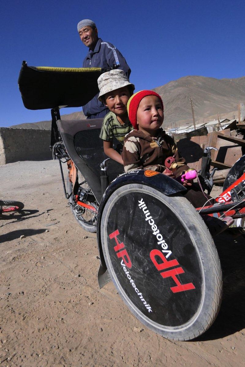 Incluso los niños pueden probar el triciclo