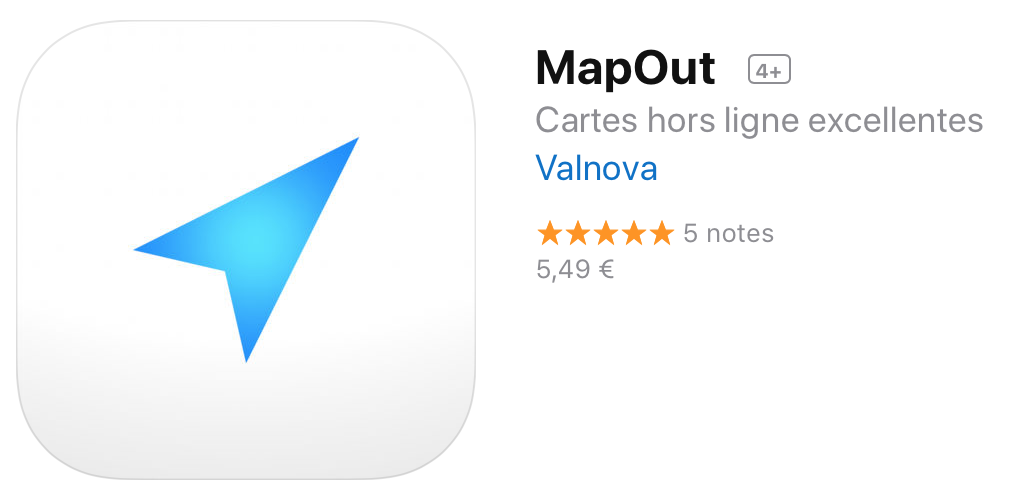 MapOut : The best app for offline GPS map Cycling traveler on iOS