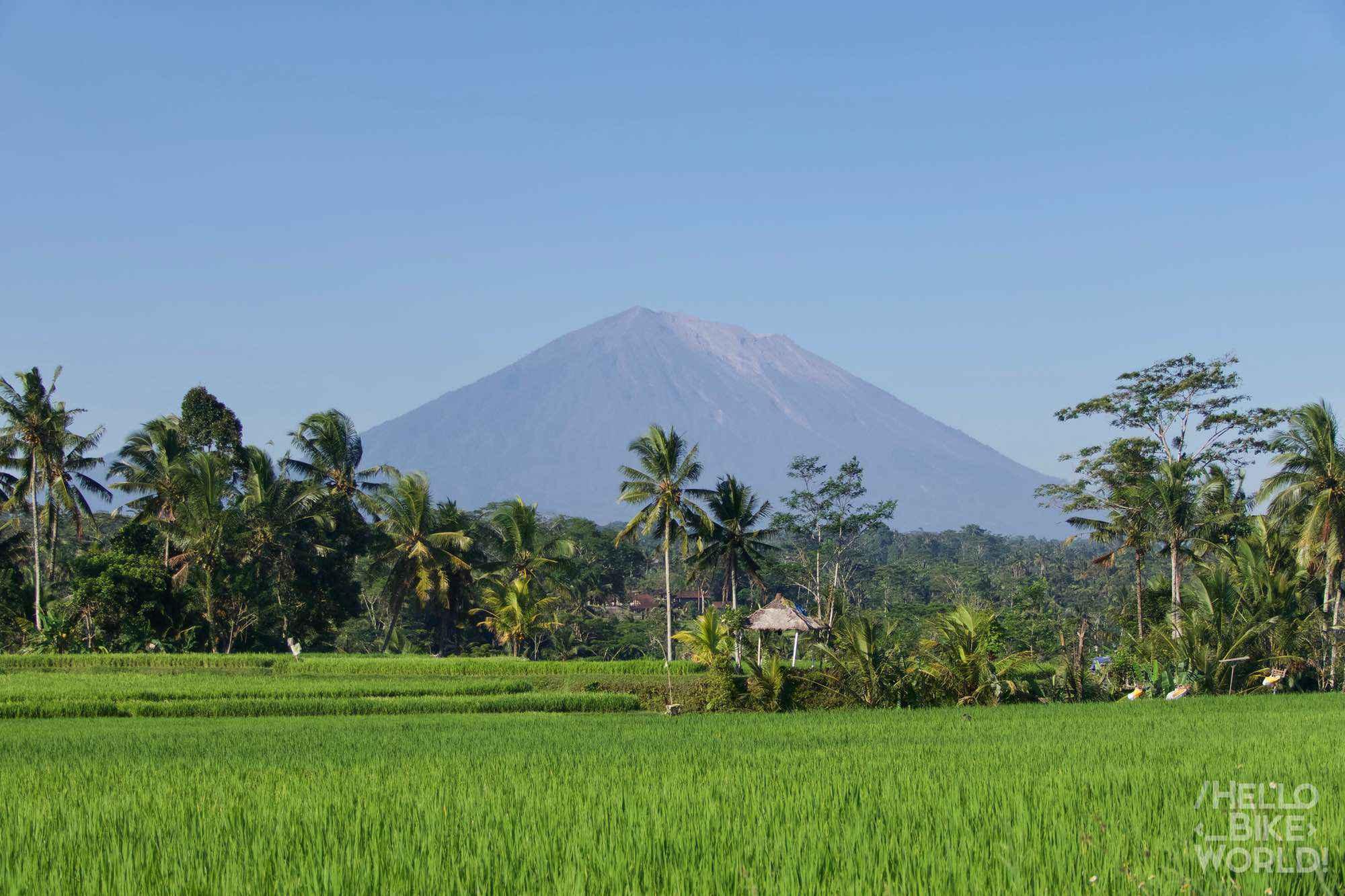 Vista del Monte Agung