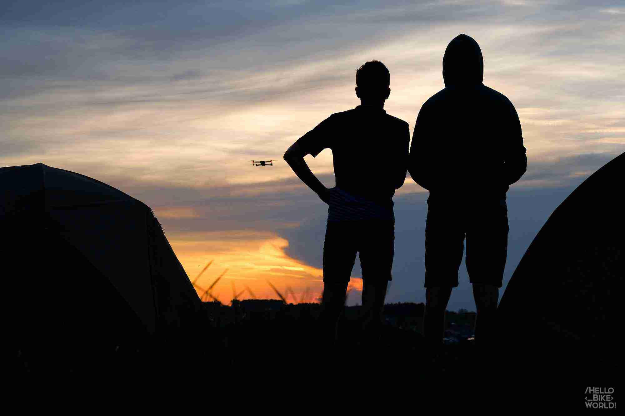 Sonnenuntergang an der Drohne