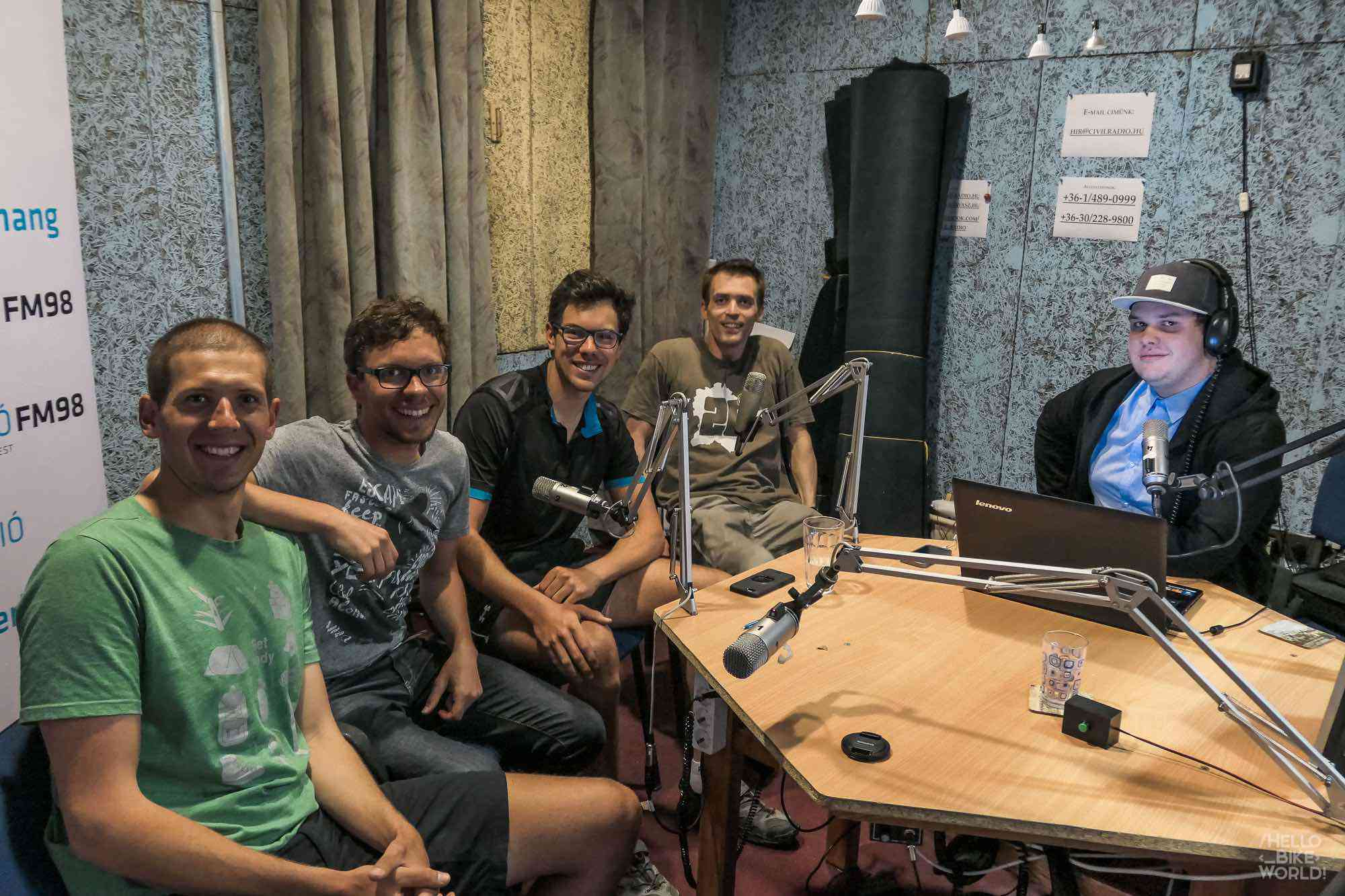 Interview on local radio in Budapest