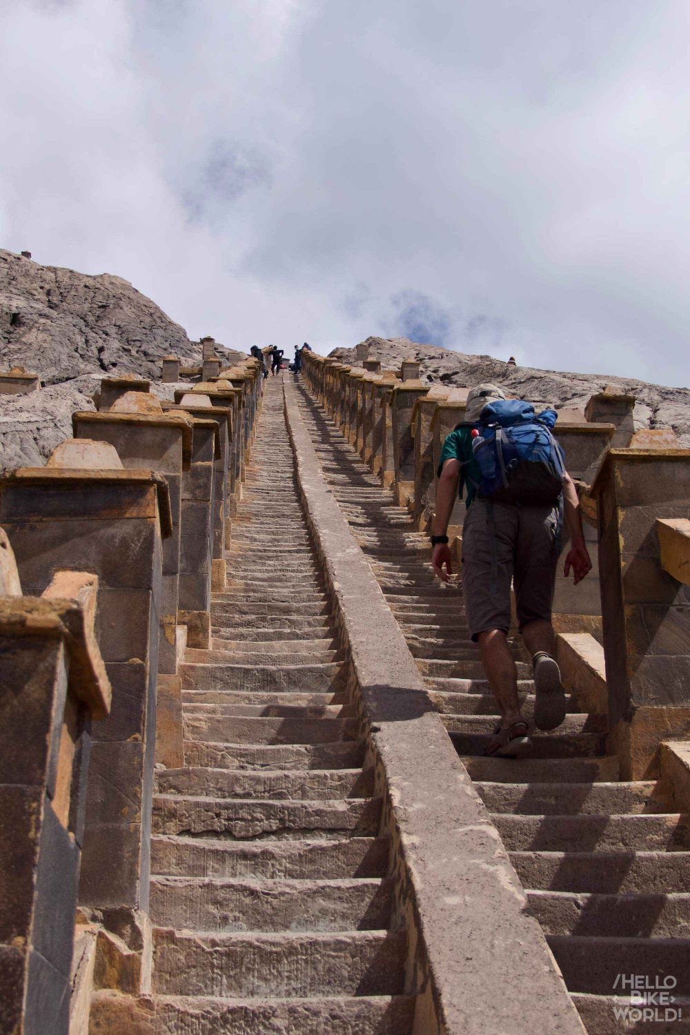 The steps to the crater of Bromo