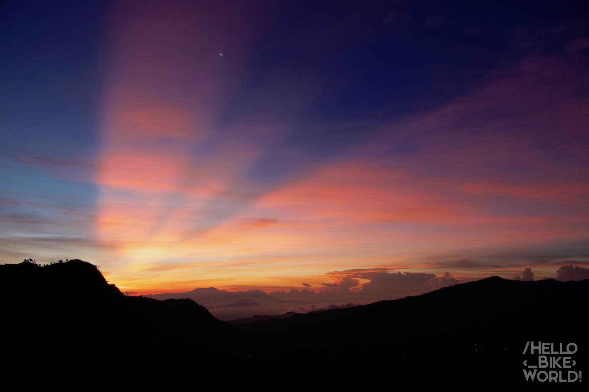 Un lever de soleil prometteur niveau couleurs !