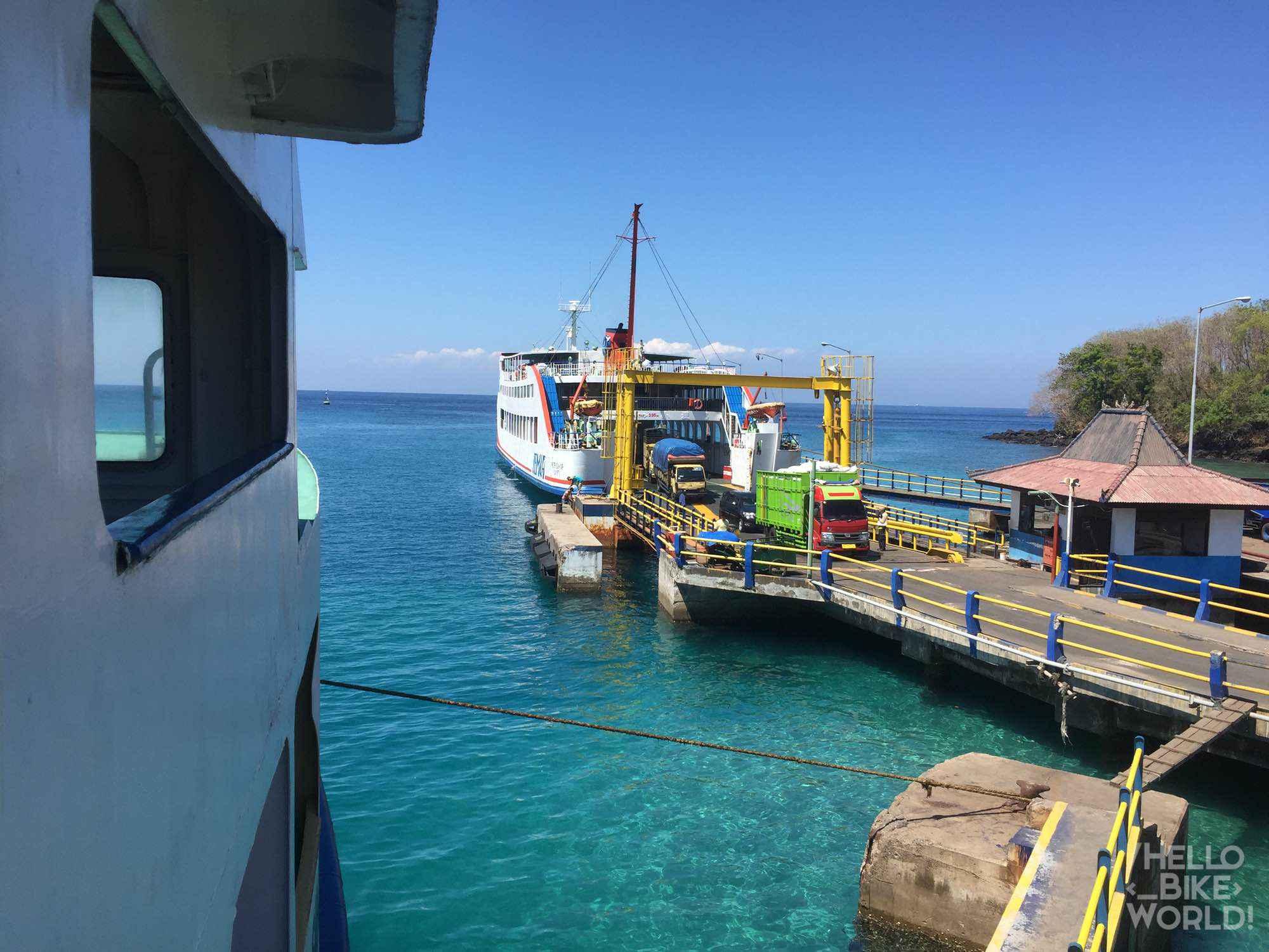 Le ferry de Padang Bai