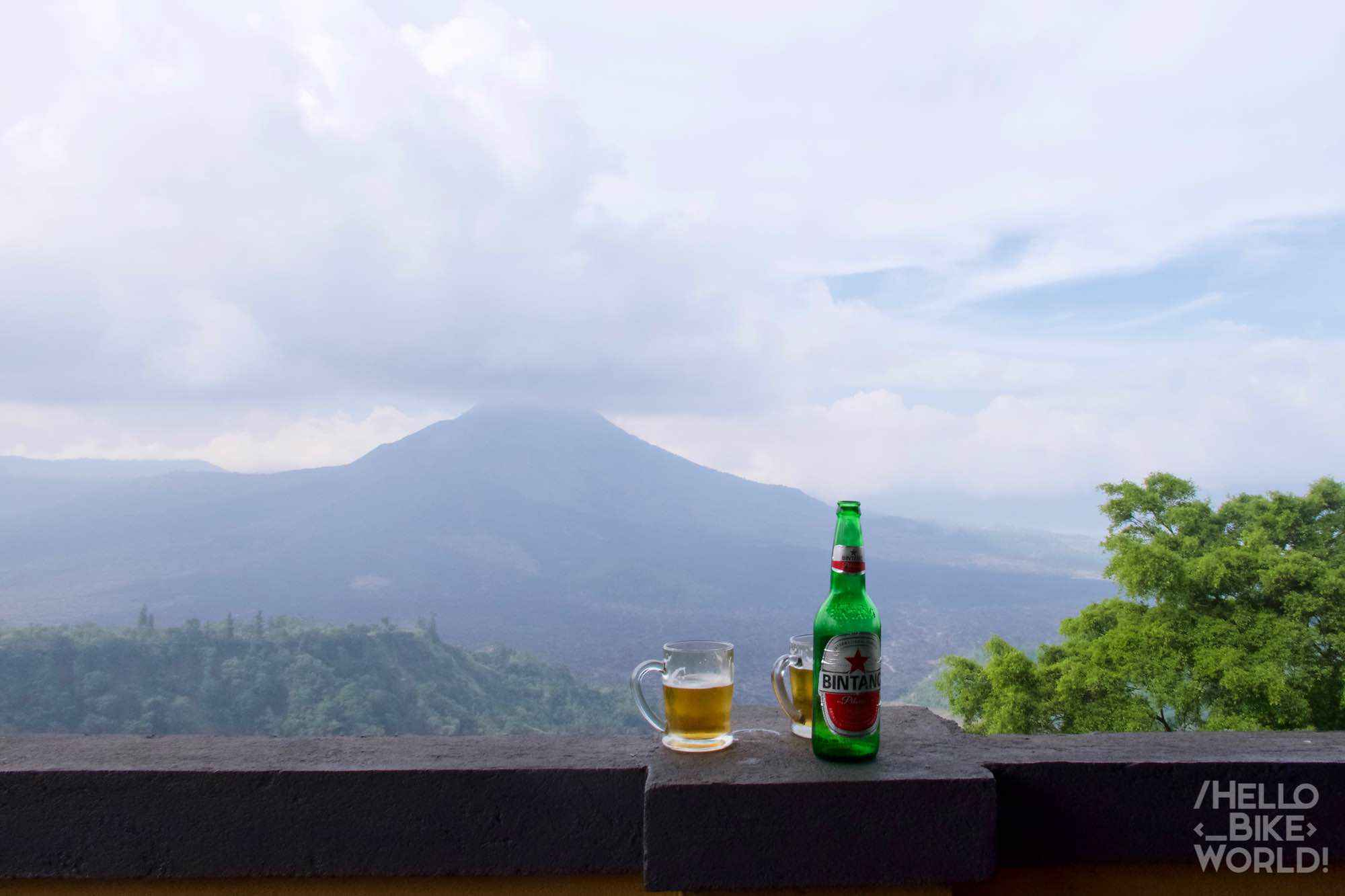 View of Mt Batur and the Bintang